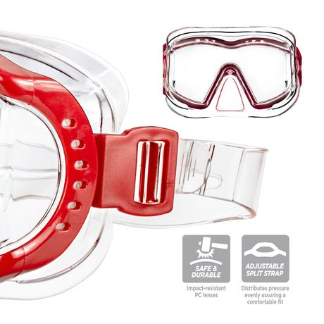 Dolfino Adult Optium Triview Red Swim Mask - image 3 of 4