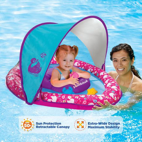 Perfect Fit Babyboat With Canopy And 3 Toys Swan