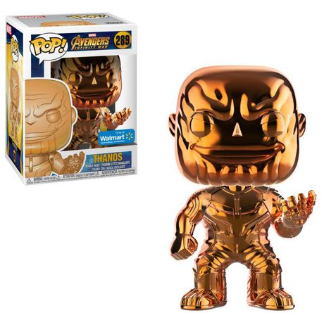 Funko POP! Marvel: Avengers Infinity War - Orange Thanos Chrome Vinyl Figure (Walmart Exclusive) - image 1 of 1