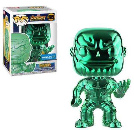 Funko POP! Marvel: Avengers Infinity War - Green Thanos Chrome Vinyl Figure (Walmart Exclusive) - image 1 of 1