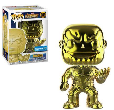 Funko POP! Marvel: Avengers Infinity War - Yellow Thanos Chrome Vinyl Figure (Walmart Exclusive) - image 1 of 1