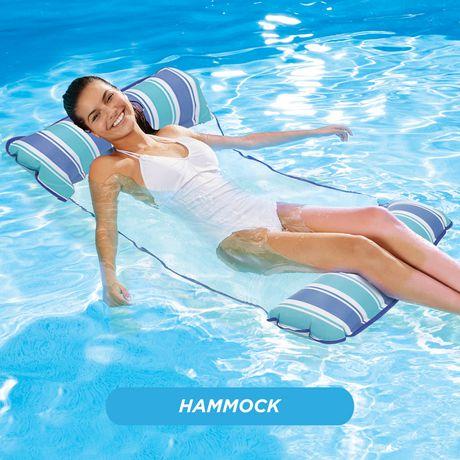 Chaise longue hamac 4-en-1 Monterey de Waterlife en rose - image 5 de 6