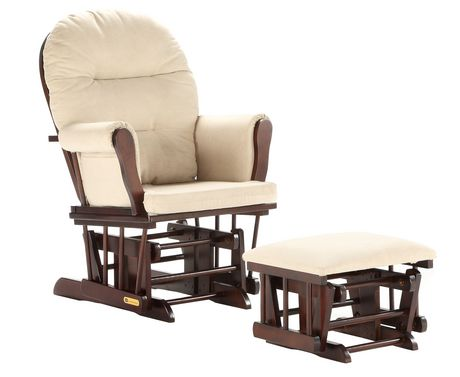 Lennox Glider Rocker Chair And Ottoman Combo Espresso