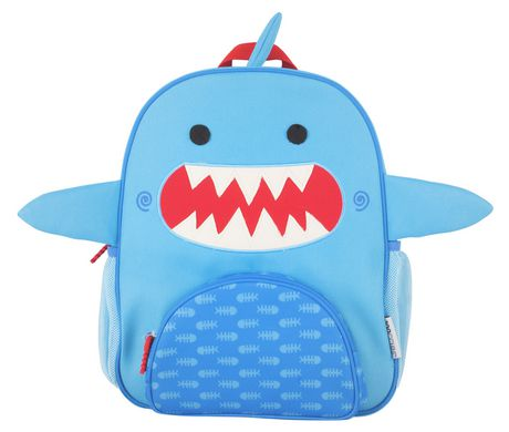 "Zoocchini Toddler Child Backpack 13"" Daycare School Bag Sherman The Shark Blue 3+"