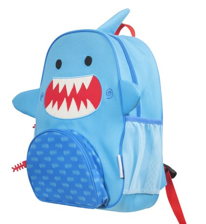 "Zoocchini Toddler Child Backpack 13"" Daycare School Bag Sherman the Shark - image 2 of 9"