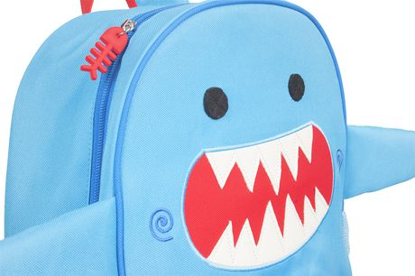 "Zoocchini Toddler Child Backpack 13"" Daycare School Bag Sherman the Shark - image 3 of 9"