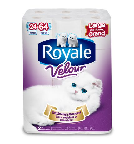 Royale Velour 2 Ply Large Bathroom Tissue Roll