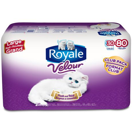 ROYALER VelourTM 2 Ply Bathroom Tissue Club Pack