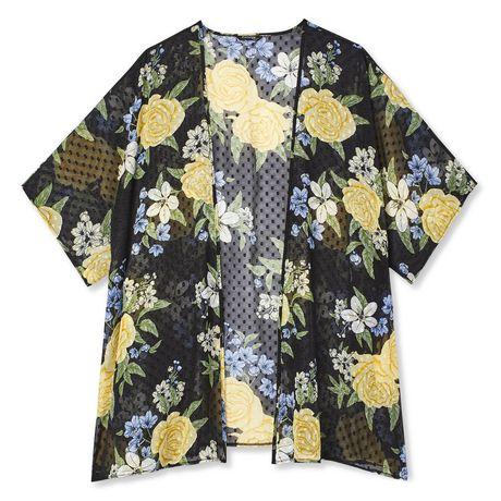 George Plus Women's Clip Dot Print Kimono - image 6 of 6