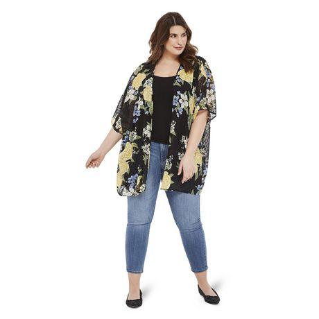 George Plus Women's Clip Dot Print Kimono - image 5 of 6
