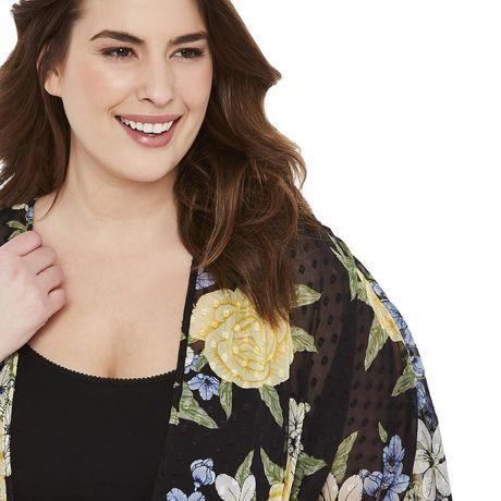 George Plus Women's Clip Dot Print Kimono - image 4 of 6