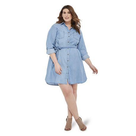 George Plus Women's Denim Dress - image 5 of 6