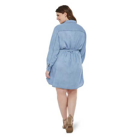 George Plus Women's Denim Dress - image 3 of 6