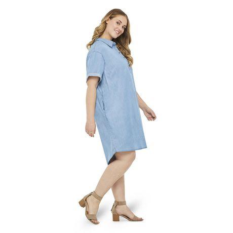 George Plus Women's Denim Shift Dress  - image 2 of 6