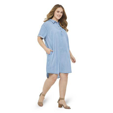 George Plus Women's Denim Shift Dress  - image 5 of 6