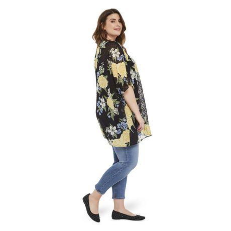 George Plus Women's Clip Dot Print Kimono - image 2 of 6