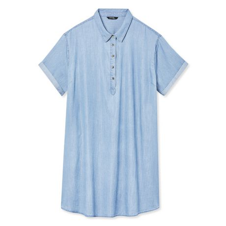 George Plus Women's Denim Shift Dress  - image 6 of 6