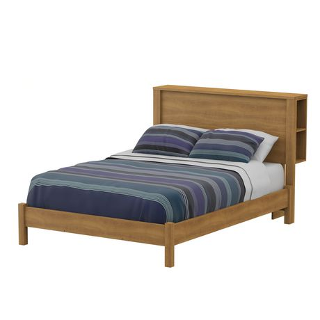 South shore t te de lit collection fynn avec rangement double rable moiss - Lit double rangement ...