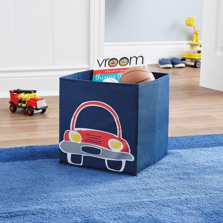 Bac de rangement cube Mainstays Kids - voiture - image 2 de 2