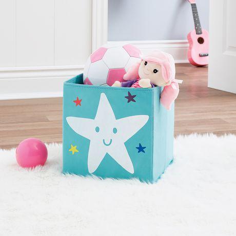 Bac de rangement cube Mainstays Kids - Étoile - image 2 de 2