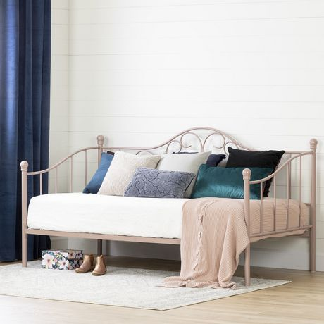 South Shore Savannah Twin Metal Daybed 39 Quot Pink Blush