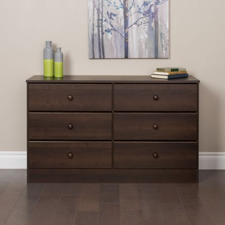 espresso 6 drawer dresser. Prepac Astrid Espresso 6-Drawer Dresser 6 Drawer W
