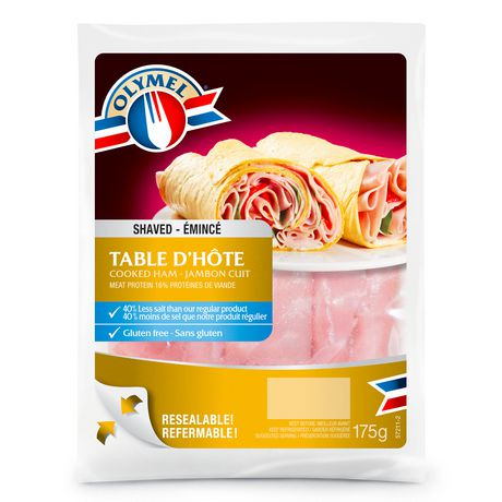 Olymel shaved table d h te cooked ham walmart canada for Table d hote 52