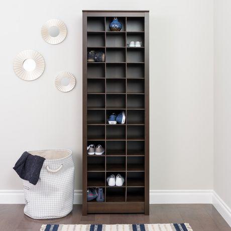 Prepac Space-Saving Espresso Shoe Storage Cabinet - image 2 of 5