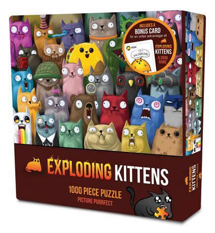 Exploding Kittens Picture Purrfect 1000pc Puzzle Walmart Canada