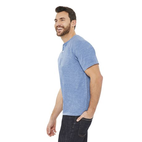 George Men's Raglan Textured Henley - image 2 of 6