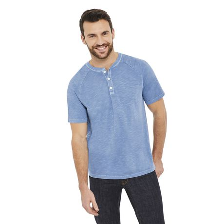 George Men's Raglan Textured Henley - image 1 of 6