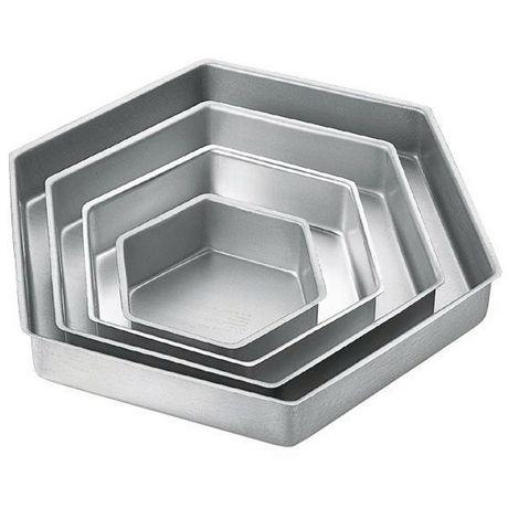Wilton Ensemble de moules pour 4 gâteaux hexagonaux étagés Performance Pans - image 2 de 2