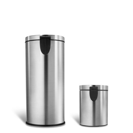 Nine Stars CB-SOT-30-1/5-1, 7.9/1.3 Gal Step-on Trash Can Combo - image 3 of 5