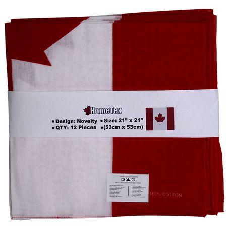 Hometex Canadian Flag Bandanas - image 1 of 7
