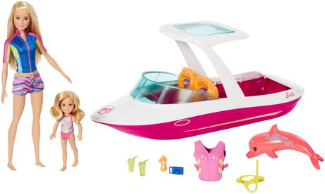 Ens. de jeu Bateau Barbie et Chelsea - image 1 de 5