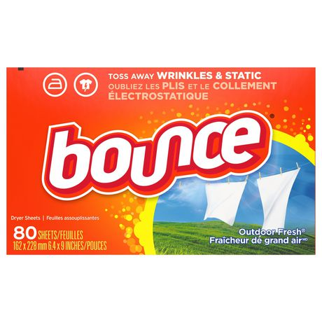 bounce fabric softener dryer sheets outdoor fresh walmart canada