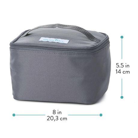 Kit d'accessoires de sac de refroidissement isolé d'evenflo avec bouteilles de collection de lait maternel et packs de glace - image 9 de 9