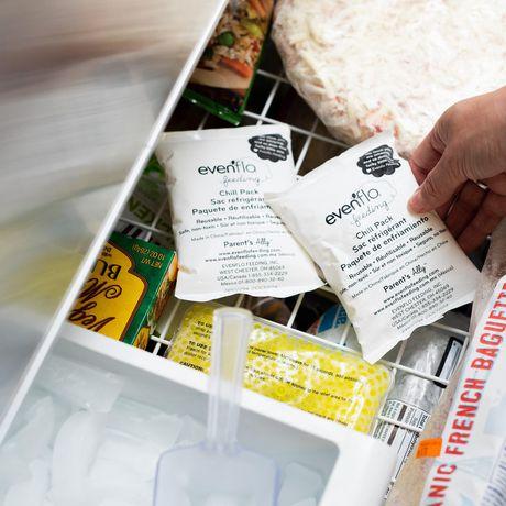 Kit d'accessoires de sac de refroidissement isolé d'evenflo avec bouteilles de collection de lait maternel et packs de glace - image 8 de 9