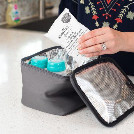 Kit d'accessoires de sac de refroidissement isolé d'evenflo avec bouteilles de collection de lait maternel et packs de glace - image 6 de 9