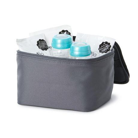Kit d'accessoires de sac de refroidissement isolé d'evenflo avec bouteilles de collection de lait maternel et packs de glace - image 3 de 9