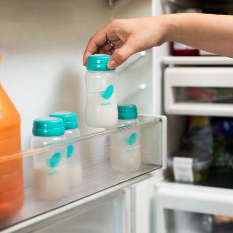 Kit d'accessoires de sac de refroidissement isolé d'evenflo avec bouteilles de collection de lait maternel et packs de glace - image 7 de 9
