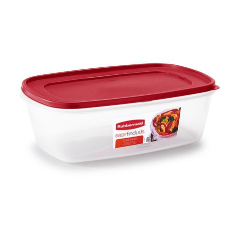 Rubbermaid Easy Find Lid Food Storage Container, 9.5 Liter, Red - image 1 of 4