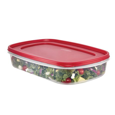 Rubbermaid Easy Find Lid Food Storage Container, 9.5 Liter, Red - image 2 of 4