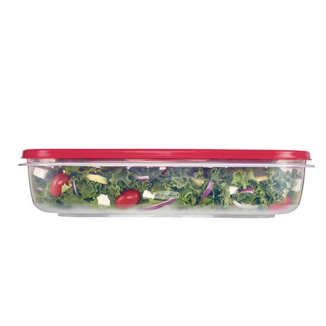 Rubbermaid Easy Find Lid Food Storage Container, 9.5 Liter, Red - image 3 of 4