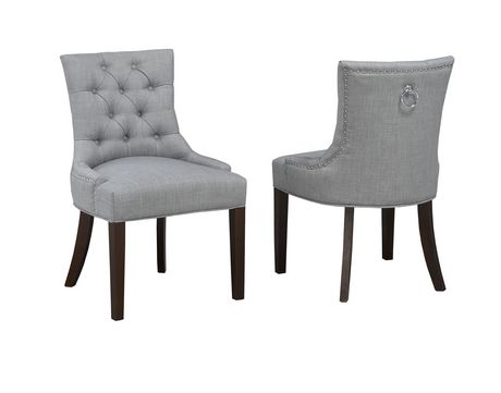 Brassex Inc Accent Chair With Nail Head Trim Set Of 2