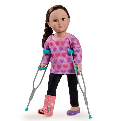 My Life As Purple CRUTCHES /& CAST 5 Pc Play Set