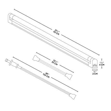 BAZZ Luminaire de dessous d'armoire blanc fluorescent de 21,5 po - image 4 de 4