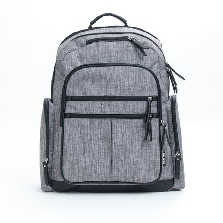 Baby Boom Places and Spaces Backpack Diaper Bag - Grey - image 1 of 8