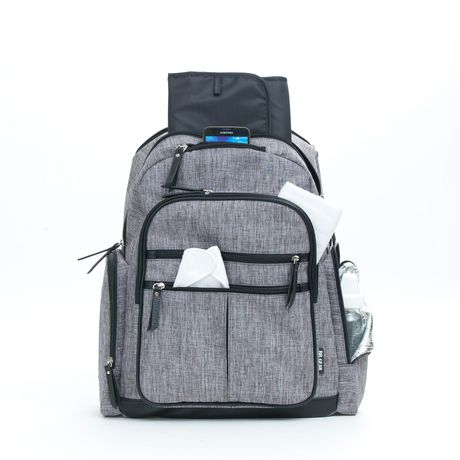 Baby Boom Places and Spaces Backpack Diaper Bag - Grey - image 2 of 8