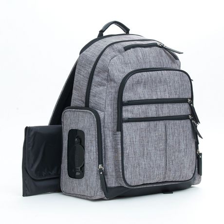 Baby Boom Places and Spaces Backpack Diaper Bag - Grey - image 6 of 8